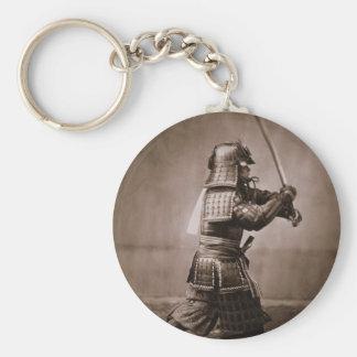 Samurai Basic Round Button Key Ring