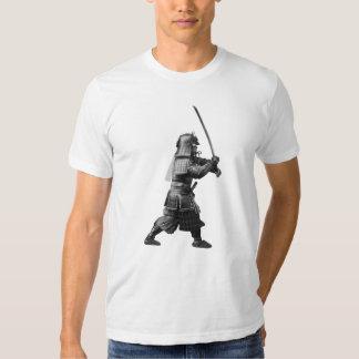 Samurai Brandishing His Sword - Japanese History Tee Shirts