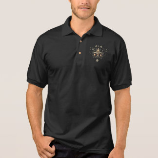 Samurai Bushido Eight Virtues Japanese Language Polo Shirt