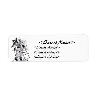 Samurai Chick Return Address Label