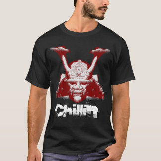 Samurai Cool Chillin' Customizable T-Shirt