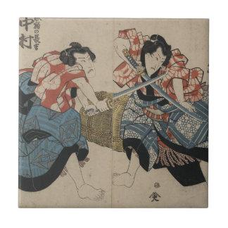 Samurai Crossing Swords circa 1825 Tile