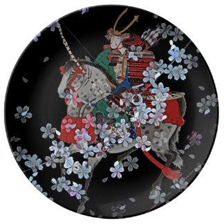 Samurai Decorative Porcelain Plate