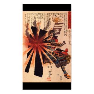 Samurai defending against exploding shell business cards