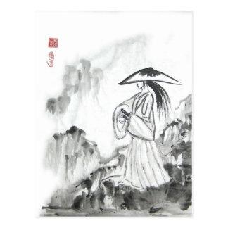 Samurai Drawing Sword Postcard