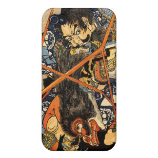 Samurai Grappling Monster Cover For iPhone 4