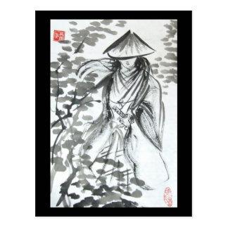 Samurai in the Forest Postcard