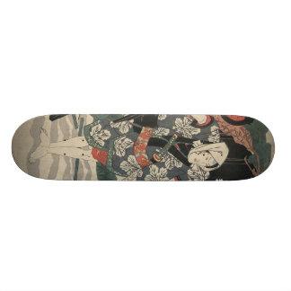 Samurai in the Snow in Japan circa 1825 Custom Skateboard