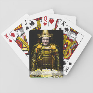 Samurai Japanese Warrior - insert YOUR Photo & Tex Playing Cards