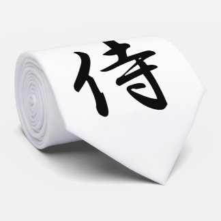 Samurai Kanji Symbol Tie