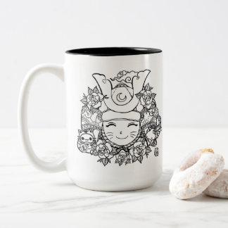 samurai kawaii mug