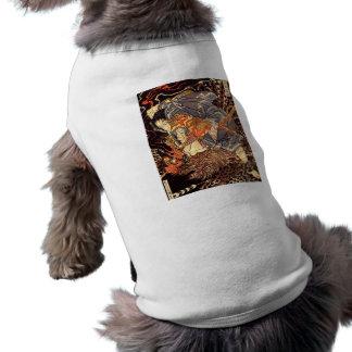 Samurai killing Tengu/bird Painting, c. 1800's Dog T-shirt