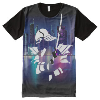 Samurai Liquid Swords City All-Over Print T-Shirt