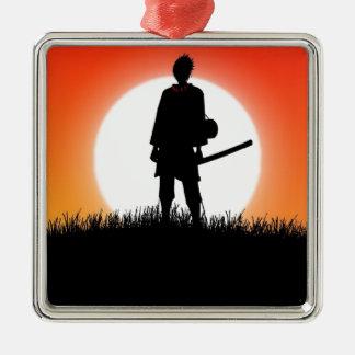 Samurai, Ninja - Japanese Warrior Metal Ornament