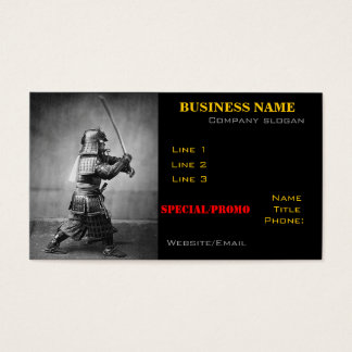 Samurai Photo business card