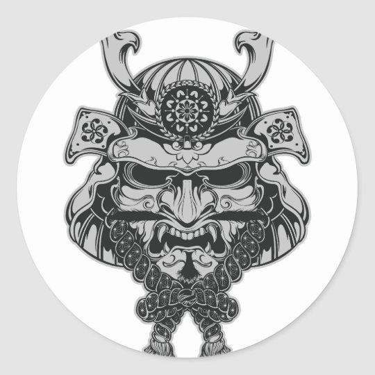 Samurai Round Sticker