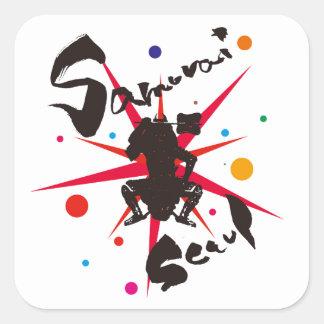 Samurai Seoul Square Sticker