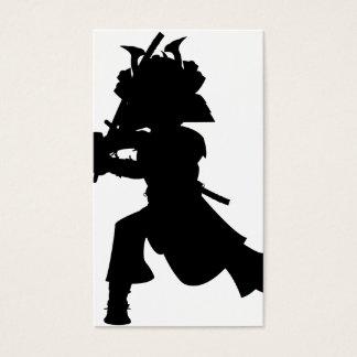 Samurai Silhouette Bookmark Business Card