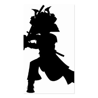 Samurai Silhouette Bookmark Pack Of Standard Business Cards