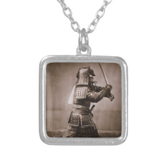 Samurai Silver Plated Necklace