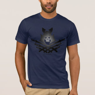 Samurai skull cool t-shirt design