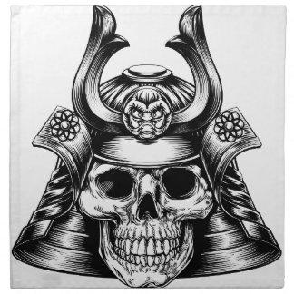 Samurai Skull Napkin