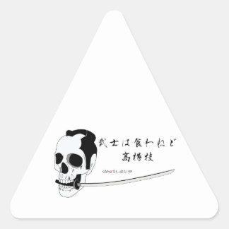 Samurai Skull Triangle Sticker