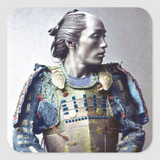 Samurai Square Sticker