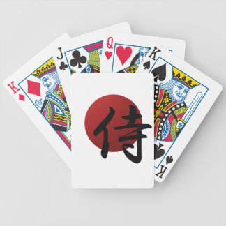 Samurai Sun Bicycle Playing Cards