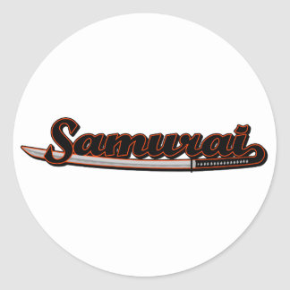 Samurai Sword Classic Round Sticker