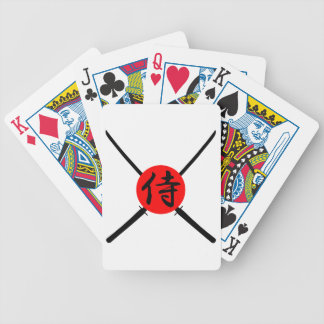 SAMURAI - Sword & Kanji Bicycle Playing Cards