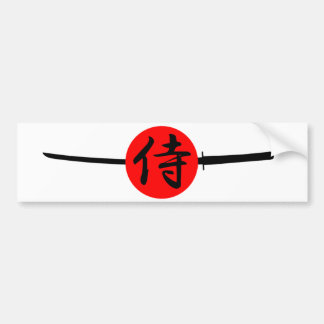 SAMURAI - Sword & Kanji Bumper Sticker