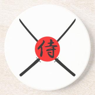 SAMURAI - Sword & Kanji Sandstone Coaster