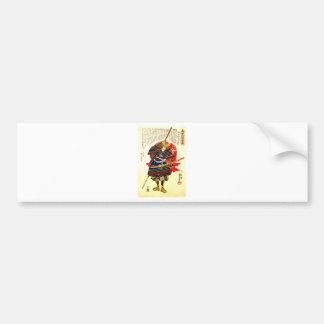Samurai - Utagawa Kuniyoshi 歌川 国芳 Bumper Sticker