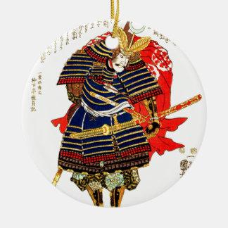 Samurai - Utagawa Kuniyoshi 歌川 国芳 Ceramic Ornament