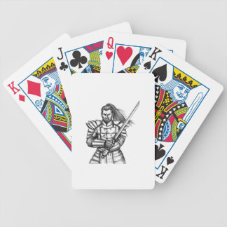 Samurai Warrior Fight Stance Tattoo Bicycle Playing Cards