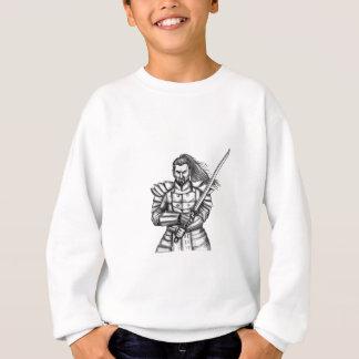 Samurai Warrior Fight Stance Tattoo Sweatshirt