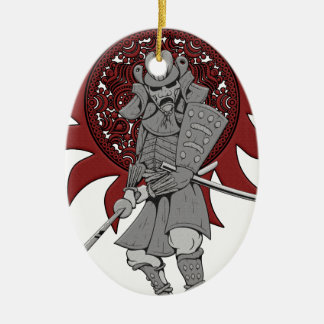 Samurai Warrior Japan Ceramic Ornament