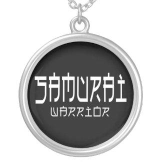 Samurai Warrior Round Pendant Necklace