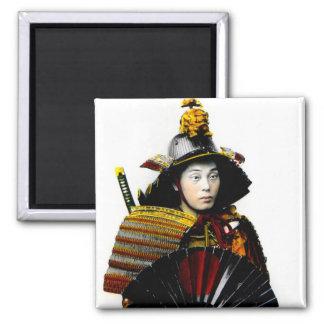 Samurai Warrior of Old Japan Vintage Warrior 侍 Magnet