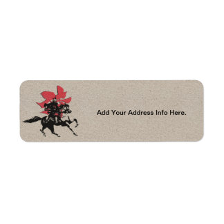 Samurai Warrior Return Address Label