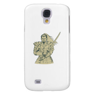 Samurai Warrior Swordfight Stance Drawing Samsung Galaxy S4 Case