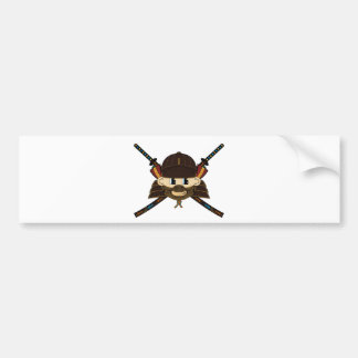 Samurai Warrior & Swords Sticker Bumper Sticker
