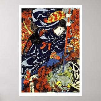 Samurai Warrior Ukiyo–e Woodblock Poster