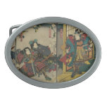 Samurai Warriors circa 1850 JAPAN Oval Belt Buckle