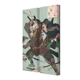 Samurai Warriors Fighting Amidst Fallen Weapons Stretched Canvas Prints