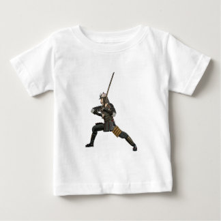 samurai with a sword in a defensive form baby T-Shirt