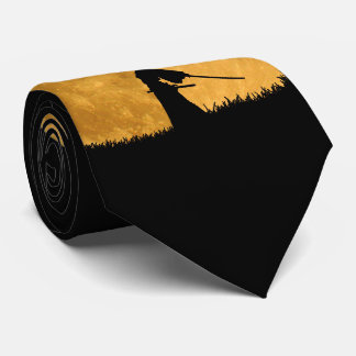 Samurai with Full Moon Tie