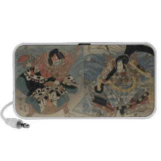 Samurai with Large Sword and Anchor c. 1815 Notebook Speakers