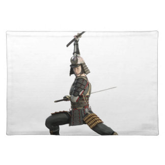 samurai with two swords looking to the front place mats